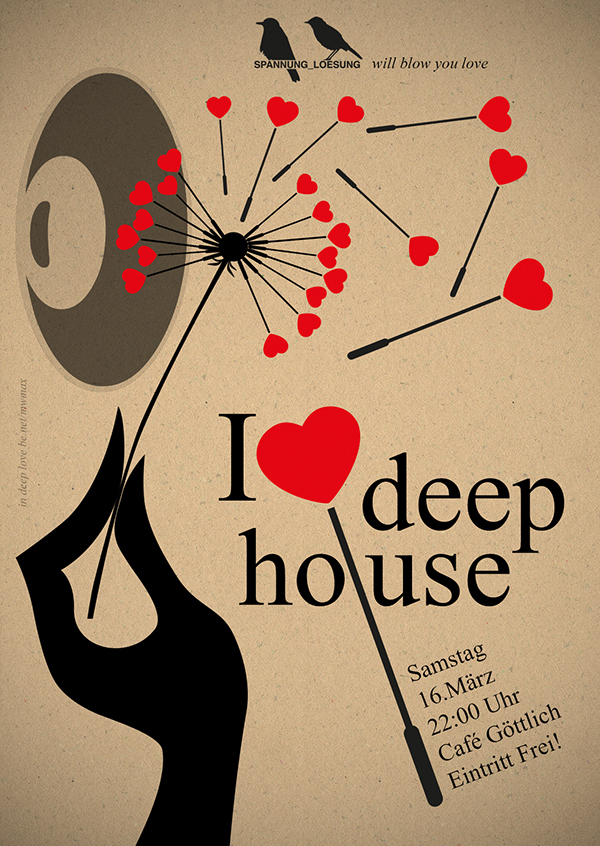 I love deep on behance for I love deep house music
