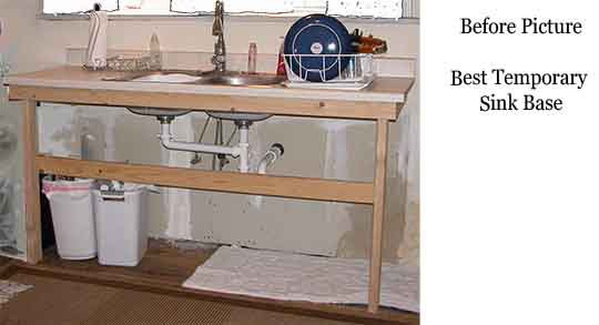 The best temporary sink base on behance for Temporary kitchen ideas