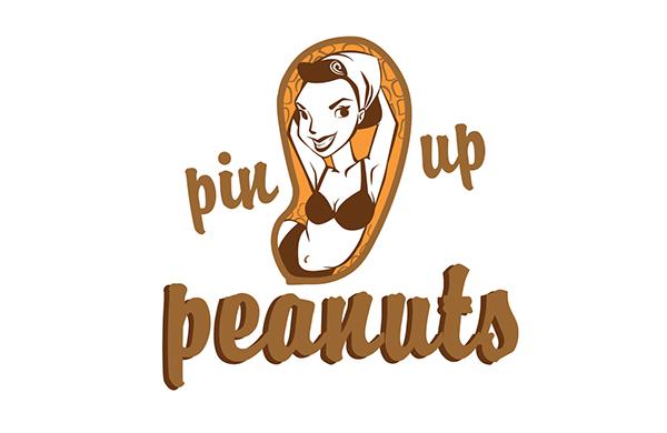 pin up peanuts logo on behance