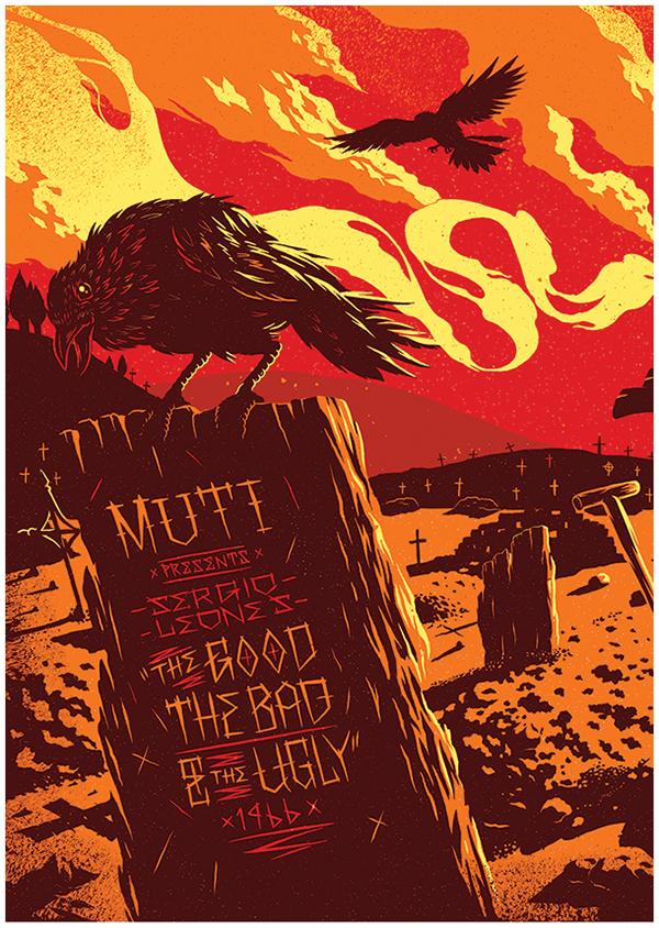 movie vhs Exhibition  video Fan Art Cinema Retro vector drawn deco western