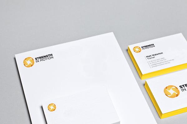 personal training identity Logo Design yellow sphere 3D sydney Bondi