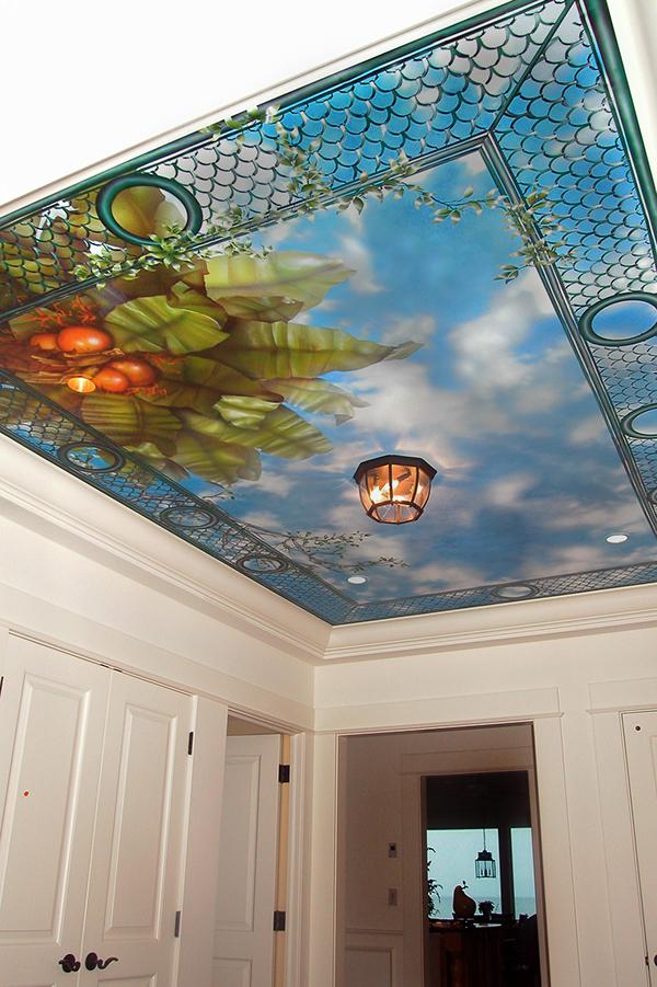 Cloud murals on behance for Cloud mural ceiling