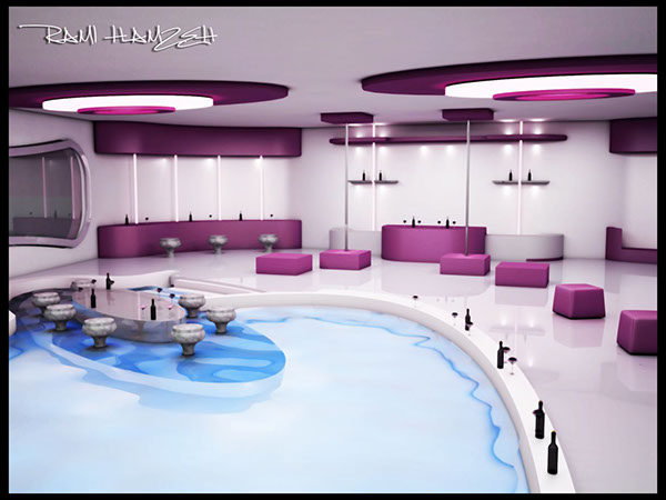 interior design for a night club
