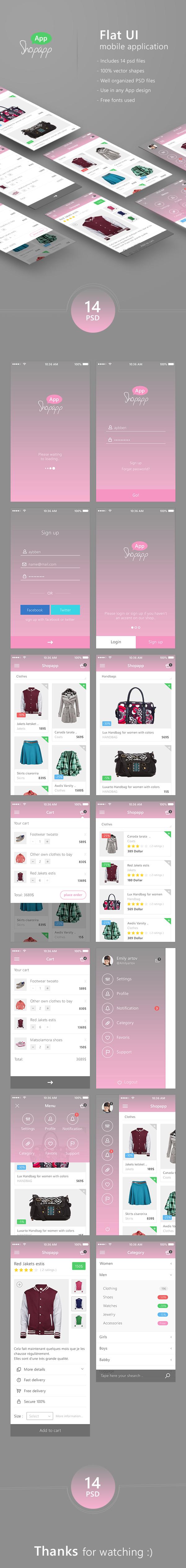 android app kit app ui clean flat UI ios ios7 iphone