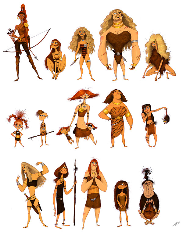 Concept Character Design Brief : Amazons sketches on behance