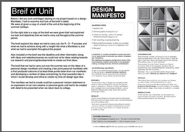 Summer Brief Design Manifesto on Behance