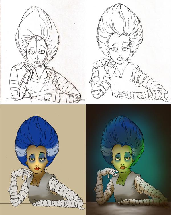 Character Design Jobs In Atlanta : Bride of frankenstein on behance