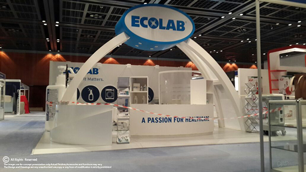 Exhibition Stand Makers In Dubai : Ecolab exhibition stand world trade center dubai on behance
