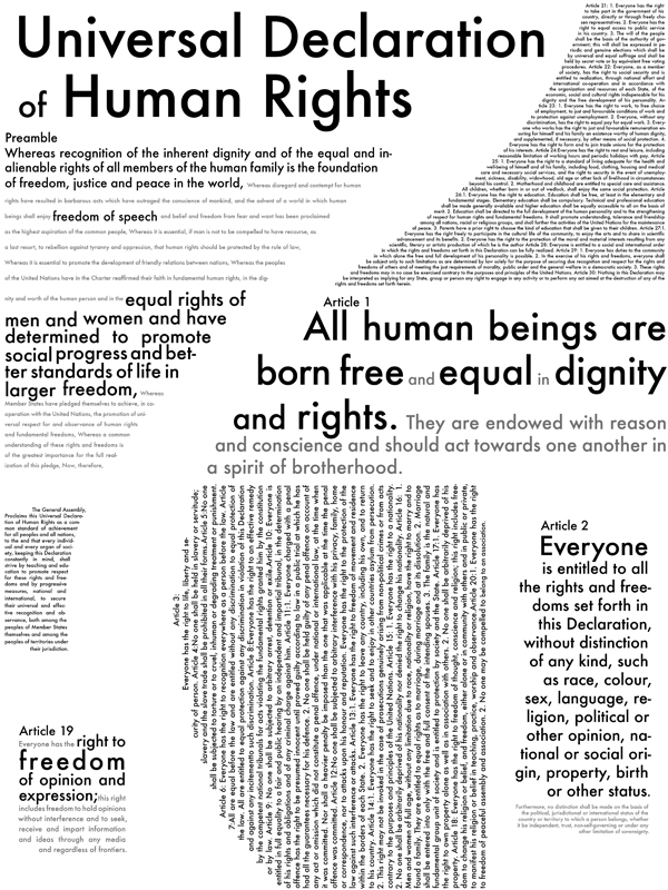 Human Rights Poster on Behance