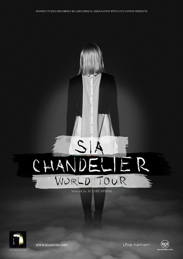 Sia - Chandelier Tour Promo Poster on Behance