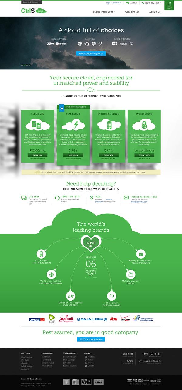 ctrls web design india design india cloud corporate website web form