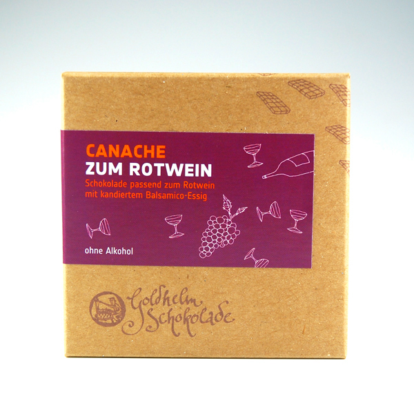 Schokolade Canache verpackung Goldhelm Erfurt