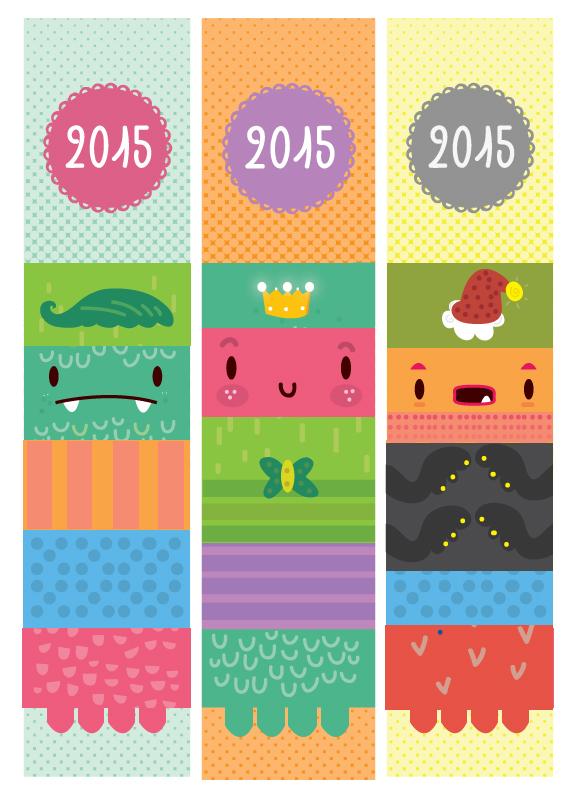 2015 calendar bookmark design on behance