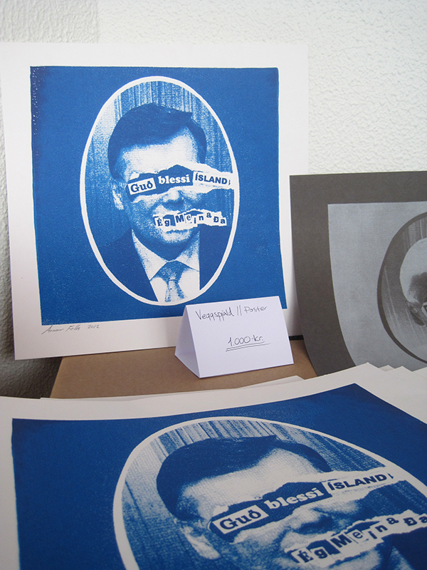 God bless Iceland print Geir H. Haarde Jamie Reid