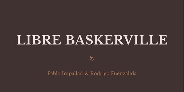 libre Baskerville free type rodrigo fuenzalida pablo Impallari
