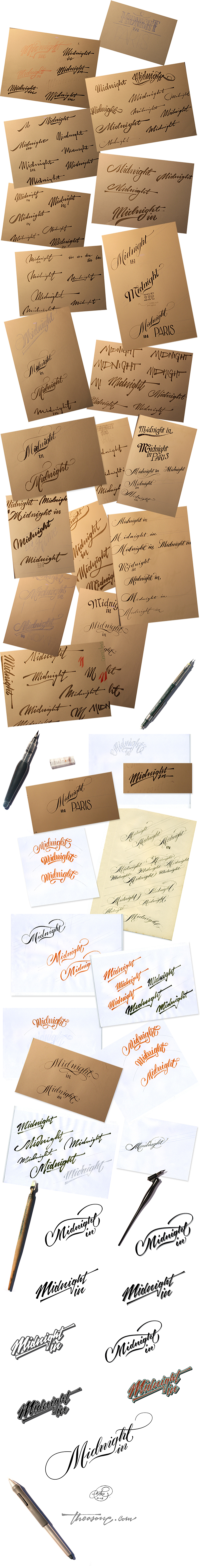 lettering, custom, brush, copperplate, glamour, spencerian, hand, sign, painting, Typo