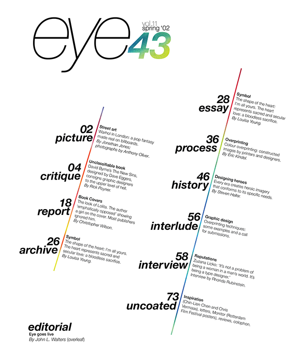 Eye Magazine Table of Contents on Behance