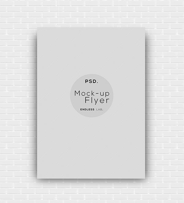 flyer mock-up print graphic design flyers mock UPS endless lab endless lab. model free psd photoshop