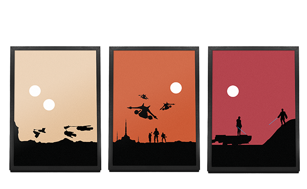 Star Wars Minimalist Landscapes On Student Show