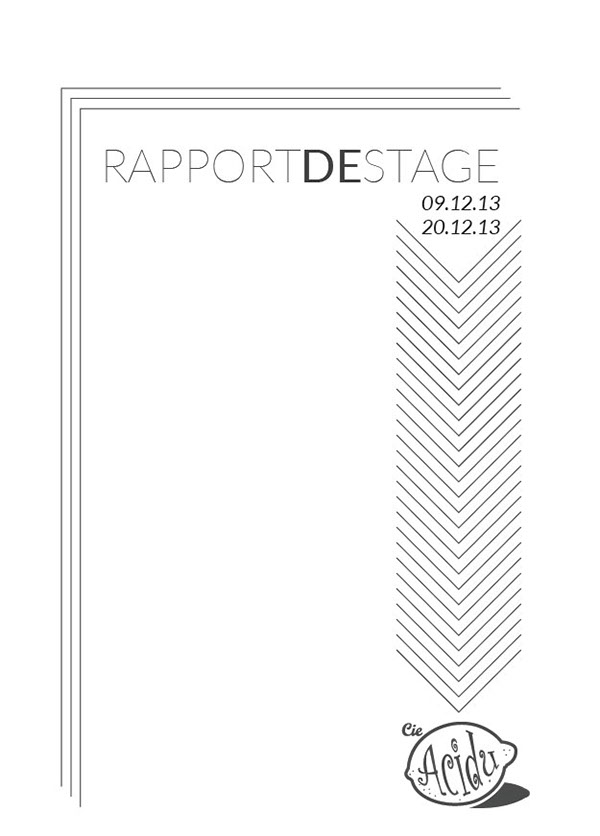 Proposition Couverture D Un Rapport De Stage On Student Show