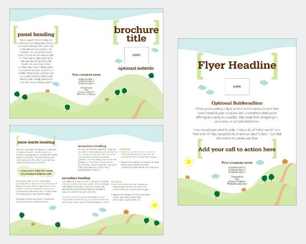 Flyer templates for marketsplash hewlett packard on behance for Hp brochure templates