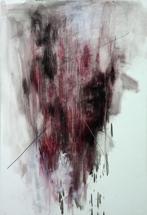 KwangHo Shin, senza titolo, olio su tela, 72.5 x 50 cm, 2013