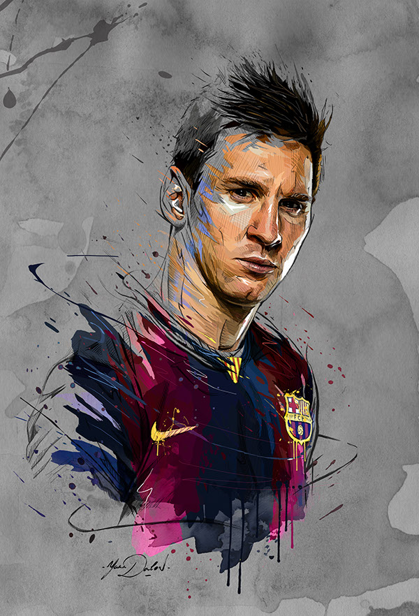 Lionel Messi On Pantone Canvas Gallery