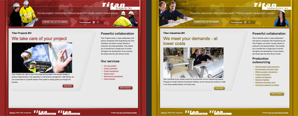 Webdesign HTML css jeroen rijpstra Van der Let & Partners Identity Titan Webdevelopment headbangmachine