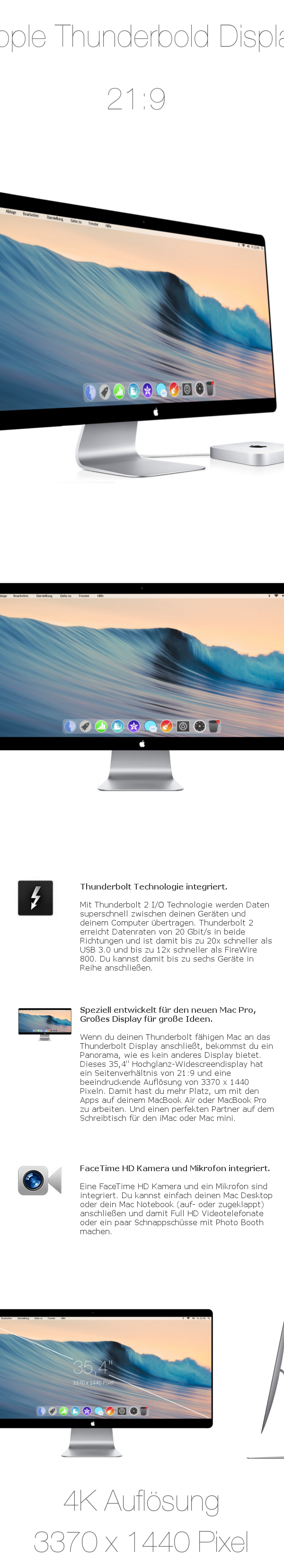 Apple Thunderbold 2 Display 21:9 4K on Behance