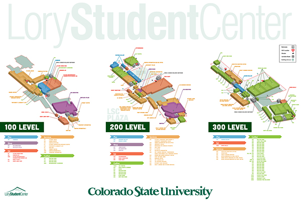 Lory Student Center Way Finding Maps on Behance