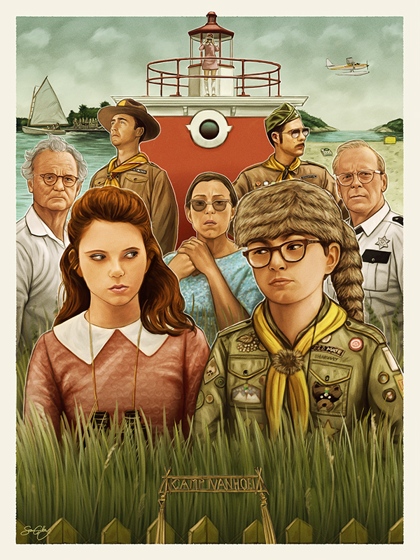Wes Anderson Tributes for Spoke Art by Sam Gilbey