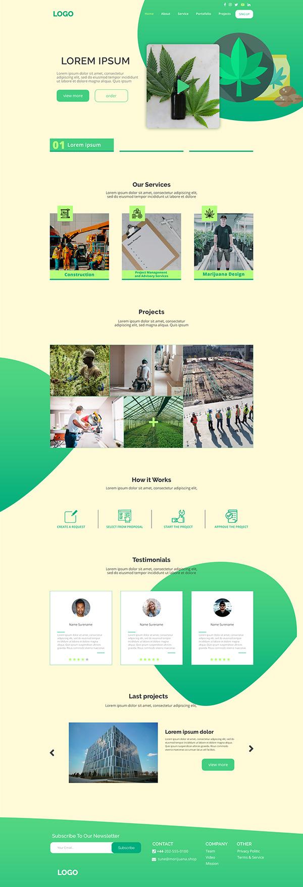 Marijuan Web Design