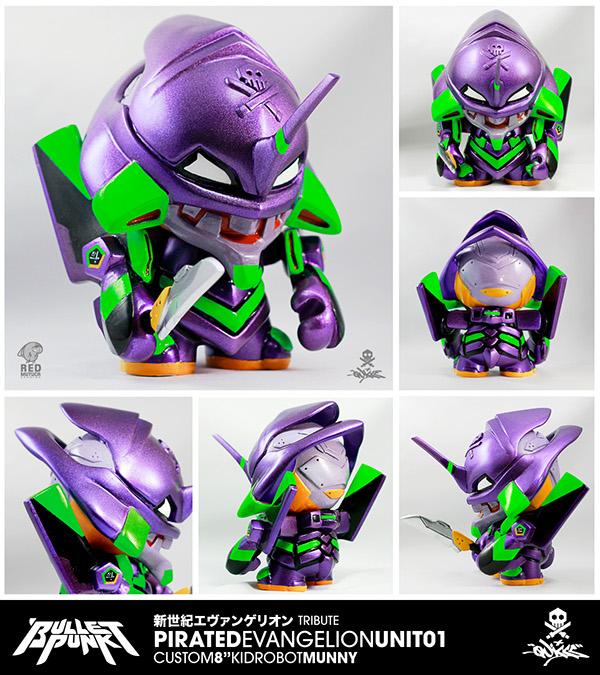 Bulletpunk Pirated Evangelion Unit 01 Custom Munny On