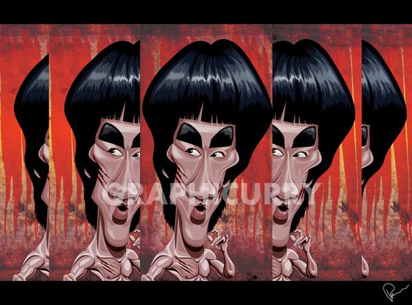 pulp fiction Movies celebrities hollywood Rambo deepika podukone shahruk khan godfather Jimi Hendrix shining Jack Nicholson daniel day lewis bill the butcher vector art illustrations caricatures