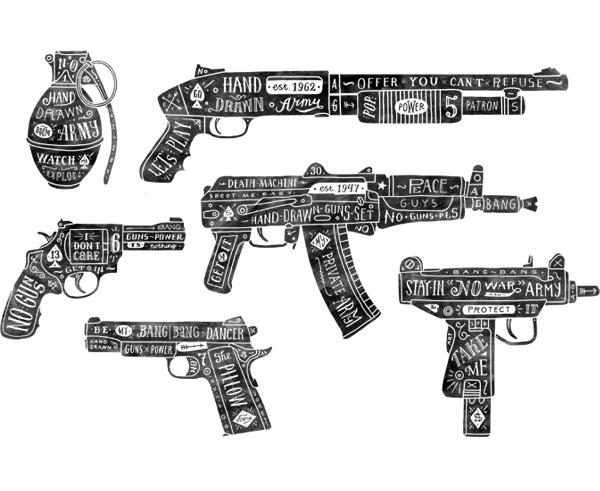 Gun Hand Hand-drawn Guns on Behance