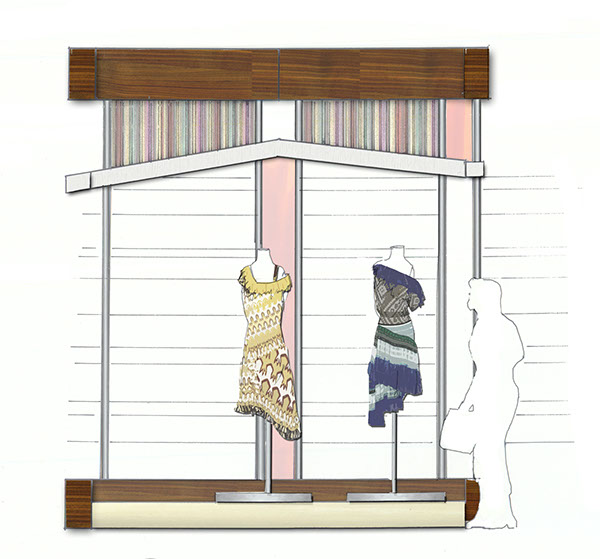 Front Elevation Of Garment Showroom : Missoni fashion showroom spring on philau portfolios