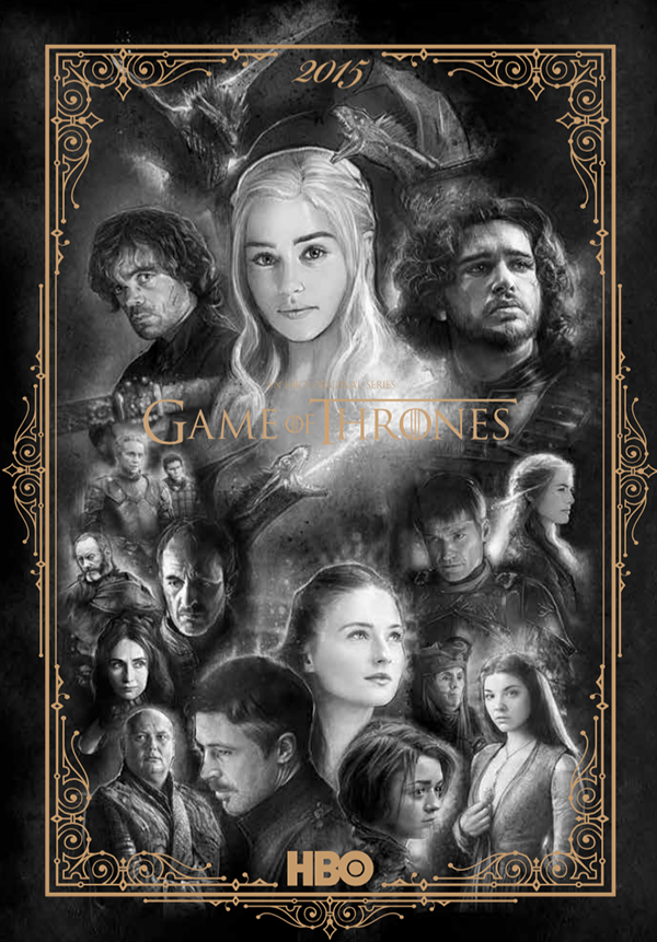 Game of Thrones Calendar for HBO by Paul Shipper