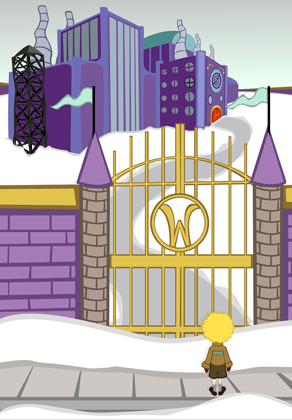 illustration charlie and the chocolate factory on behance