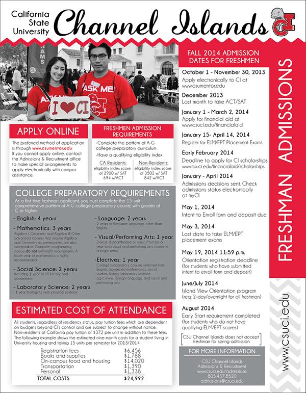 CSUCI,recruitment,flyer,college,University