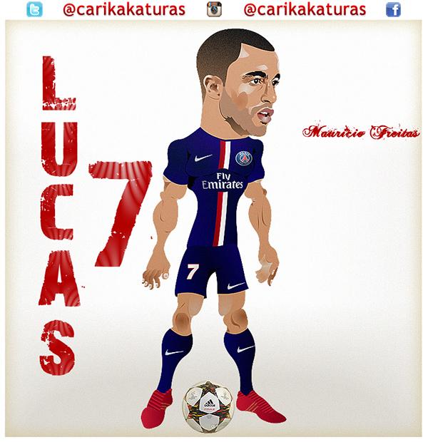 Caricatura Lucas Moura