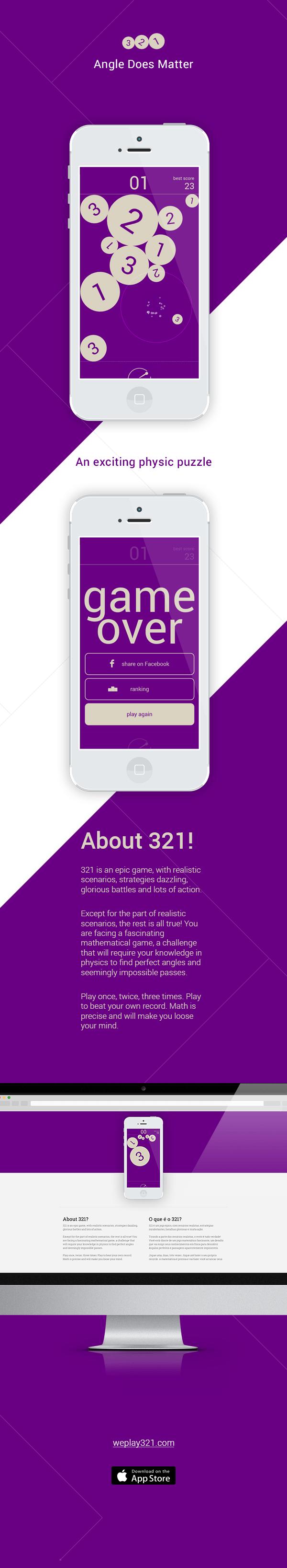 game Phisics puzzle flat flat design ios site app