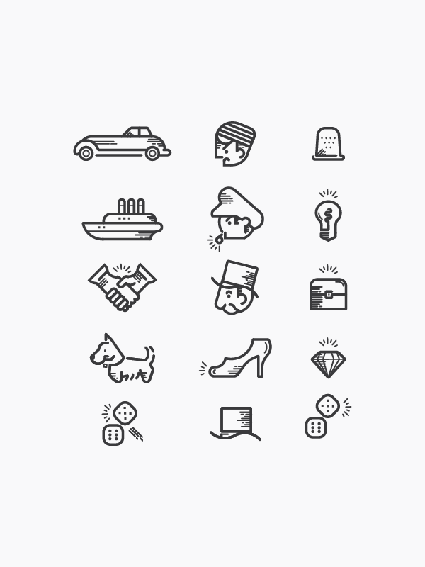 monopoly icons on behance