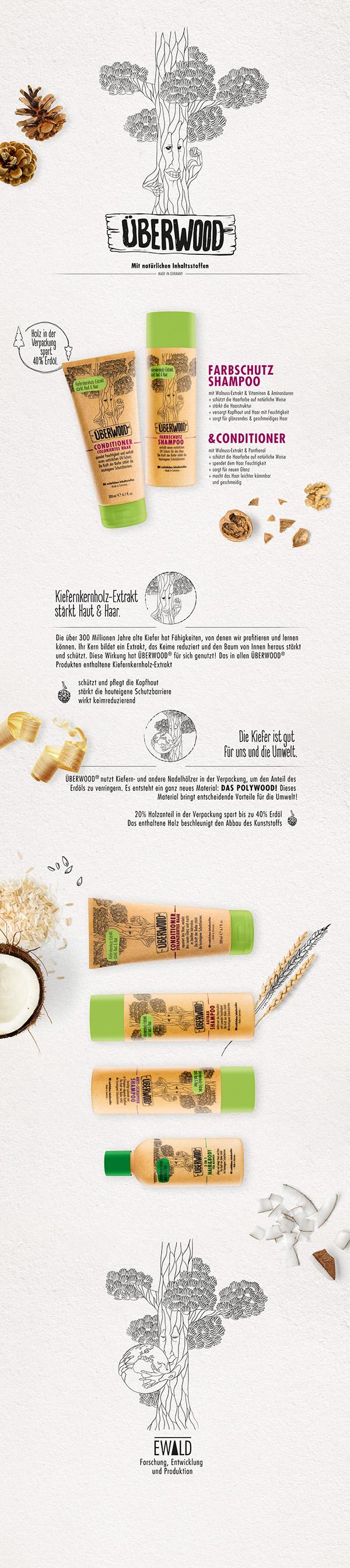 Package Design - ÜBERWOOD Hair Care on Behance