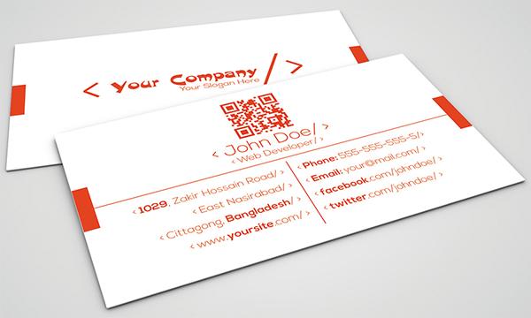 Clean Web Developer Business Card on Behance