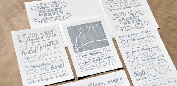Letterpress Wedding Invitations.Ashley Kevin Letterpress Wedding Invitations On Behance