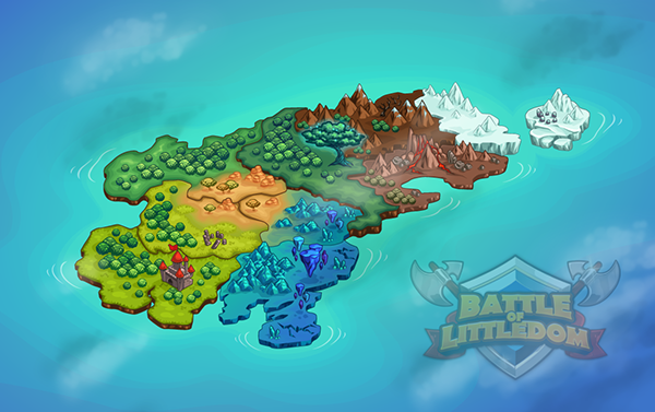 Battle of littledom backgrounds on behance world map gumiabroncs Choice Image