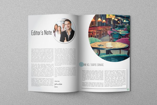 Circle Magazine Template on Behance