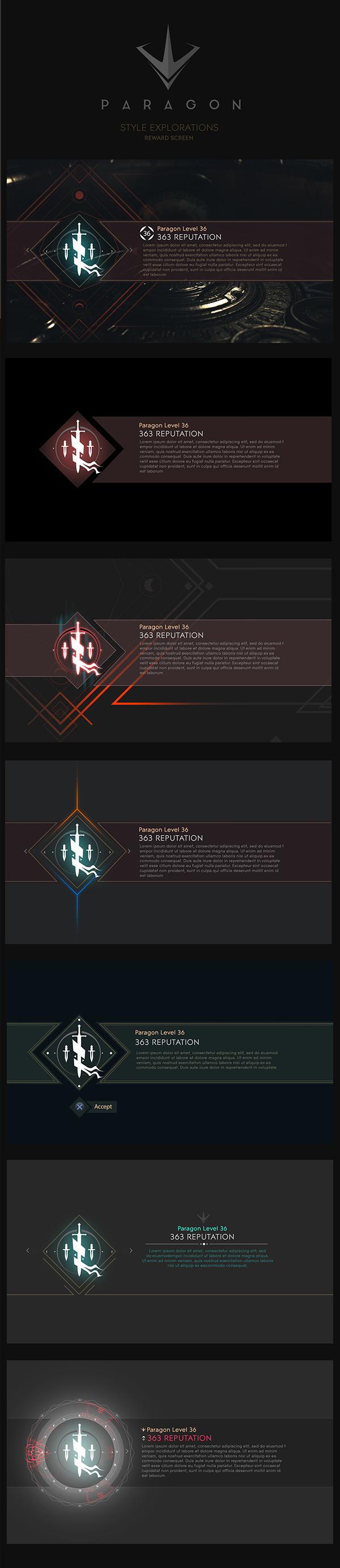 PARAGON - Iconography, UI & HUD - EPIC GAMES