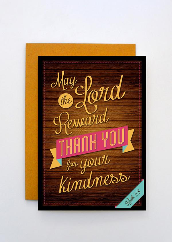thank you card design on behance