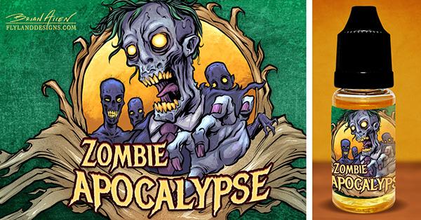 Zombie Label Illustrations i